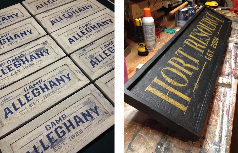 The vintage-style sign craftsmanship of Rod Vogel.