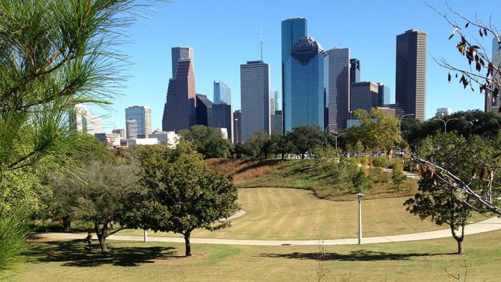 Biking along Houston's crown jewel, the Buffalo Bayou Greenway.