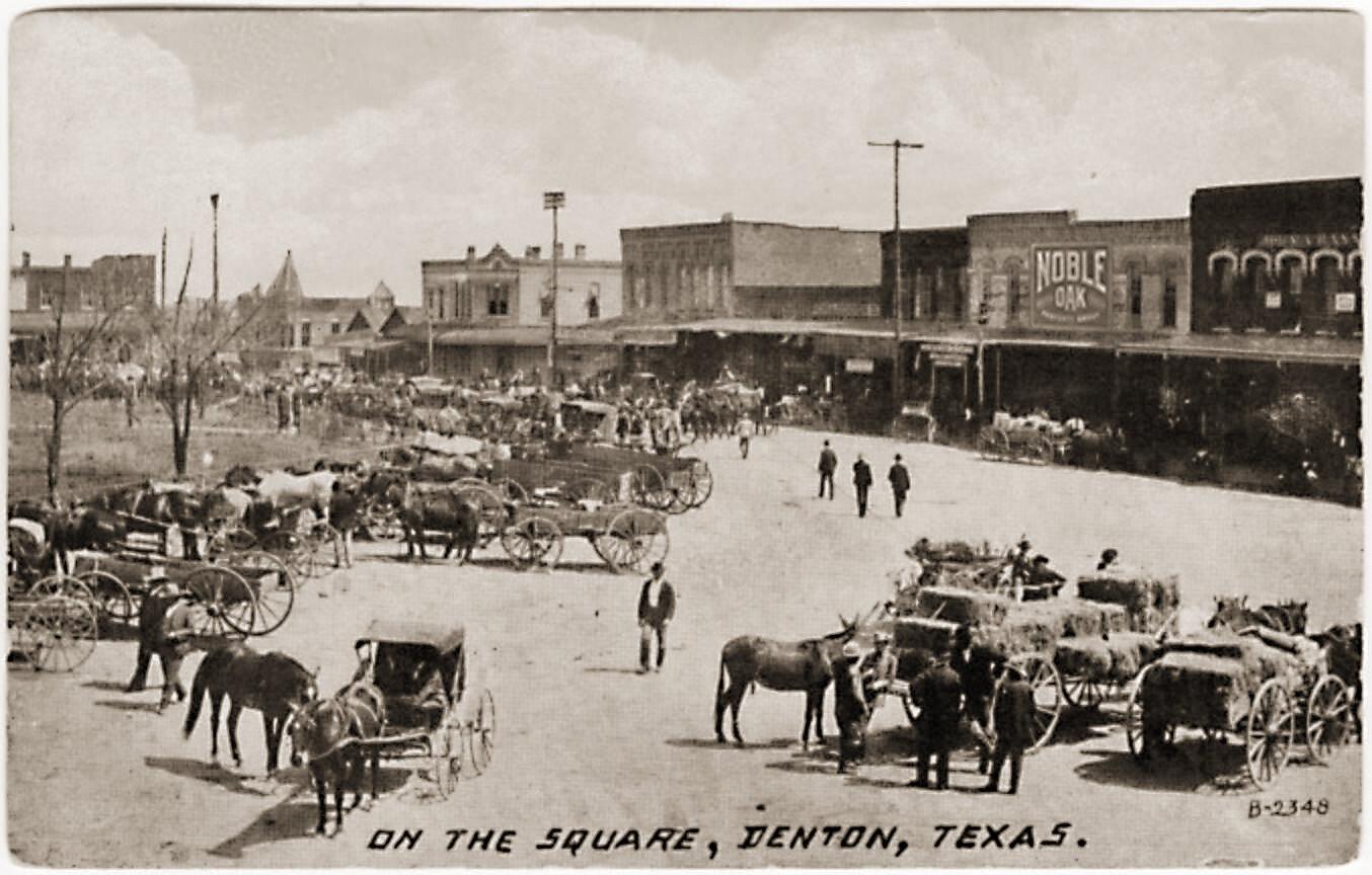 Denton Town Square, late 1800s.
