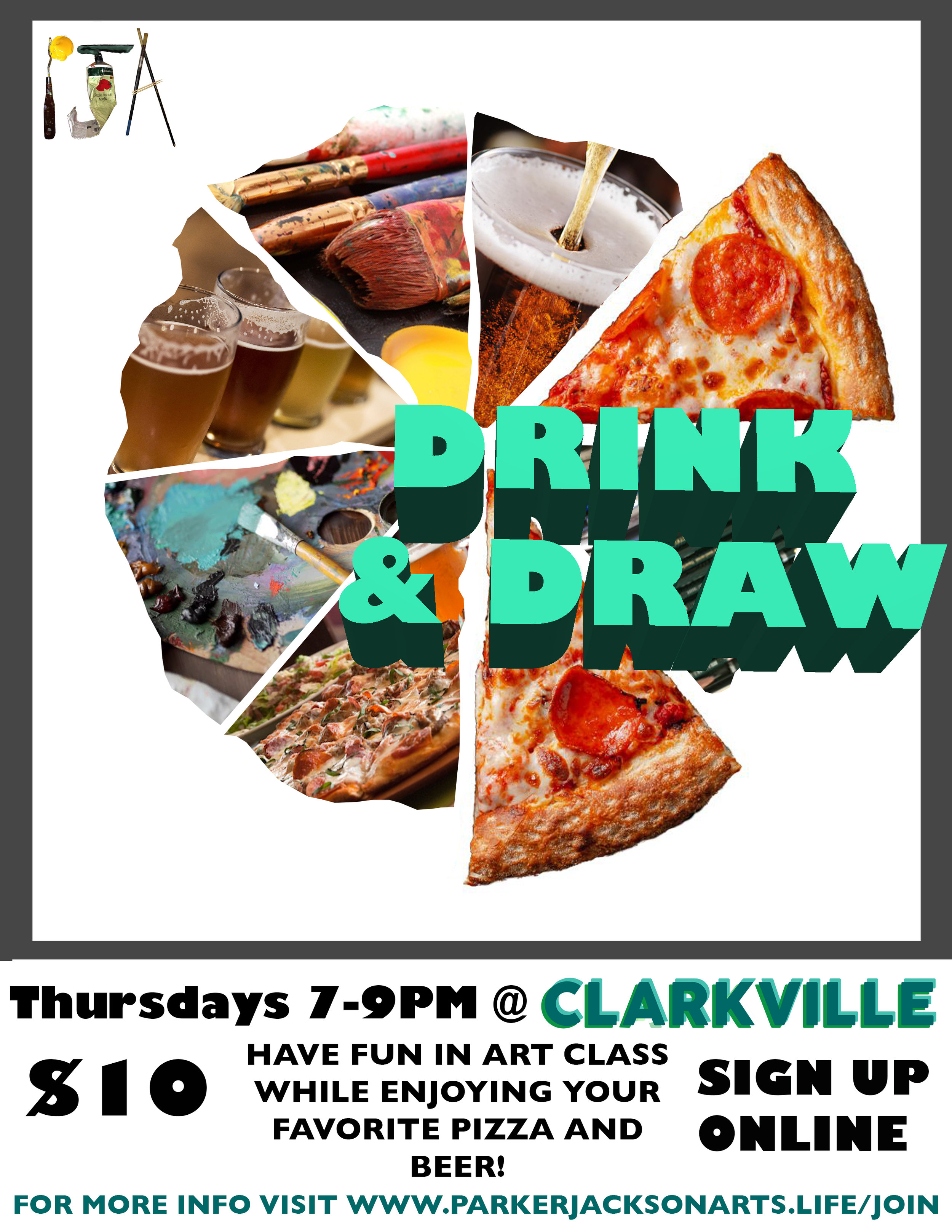 Drink & Draw - Art class, pizza and beer!