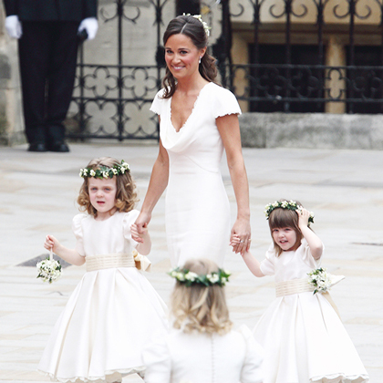 Gorgeous flower girls with Pippa Middleton at the royal wedding