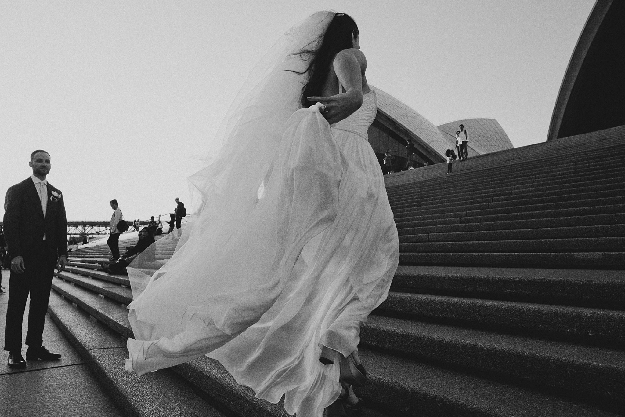 Sydney Opera House Wedding - Moira Hughes Couture