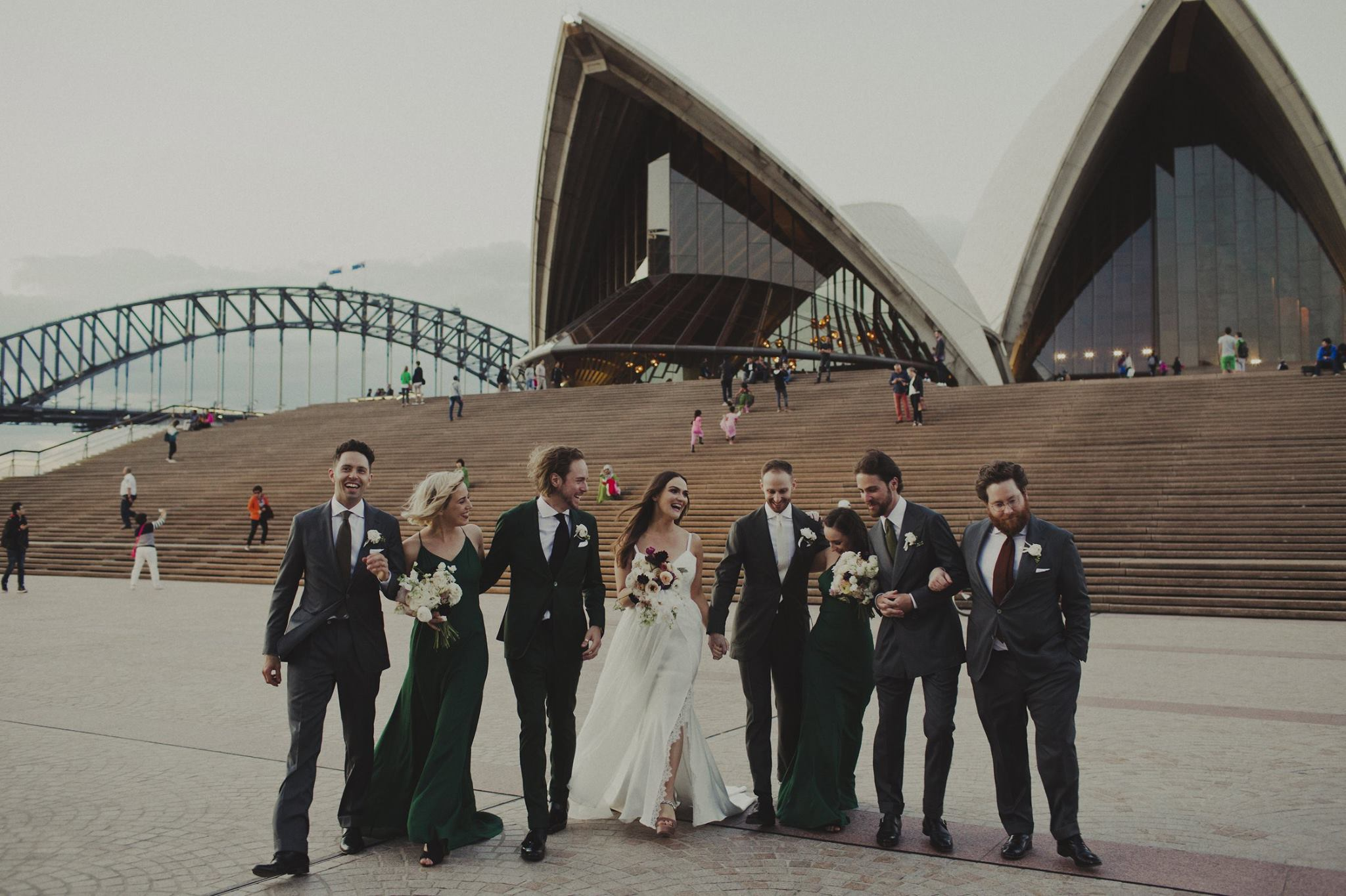 Sydney Opera House Wedding - Moira Hughes Couture Padding Designer