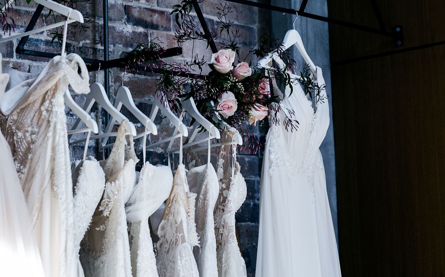 Moira Hughes Boutique with incredible florals from Jess at  Kindred Florals