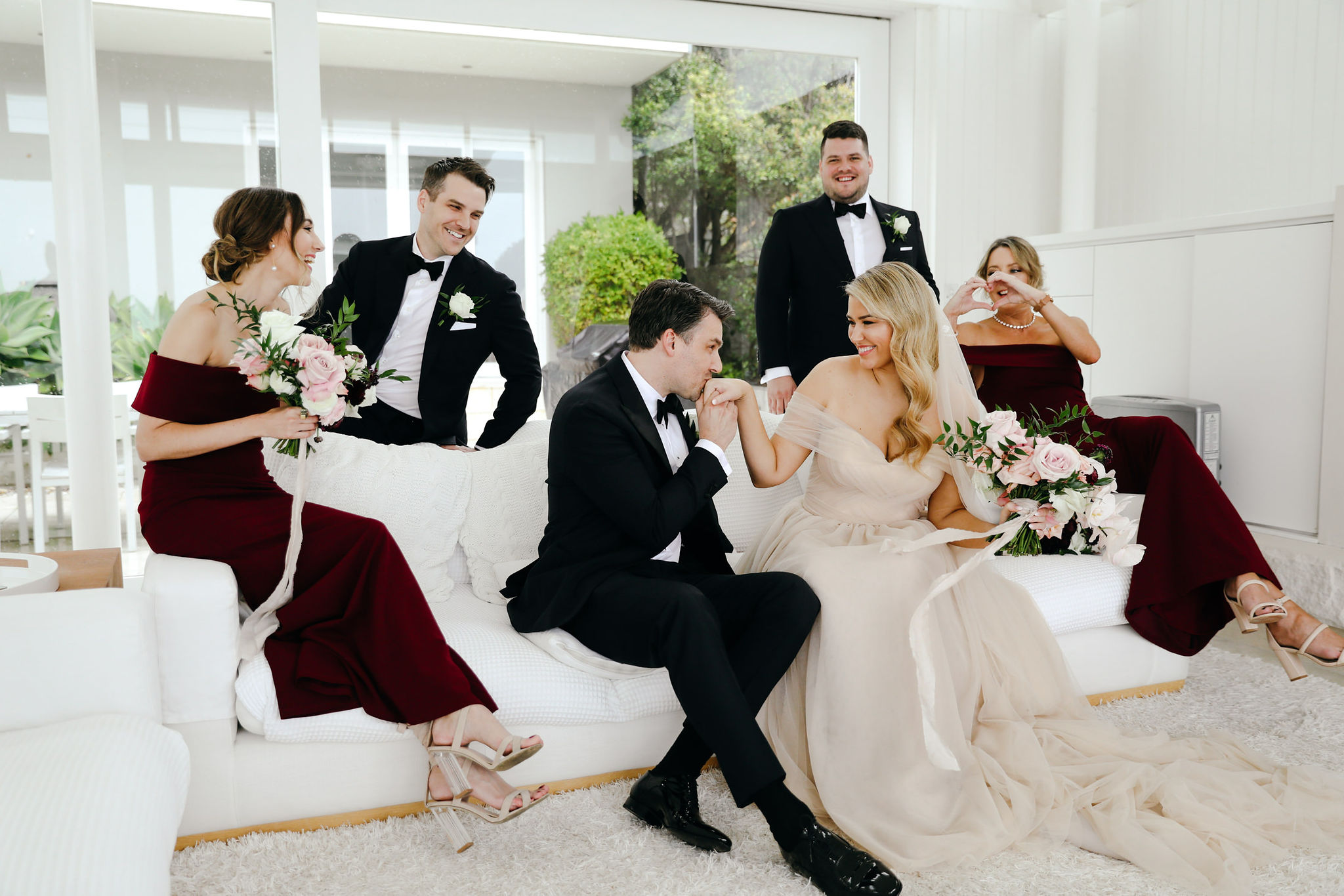 Moira Hughes Couture Marella gown blush wedding dress sydney bridal
