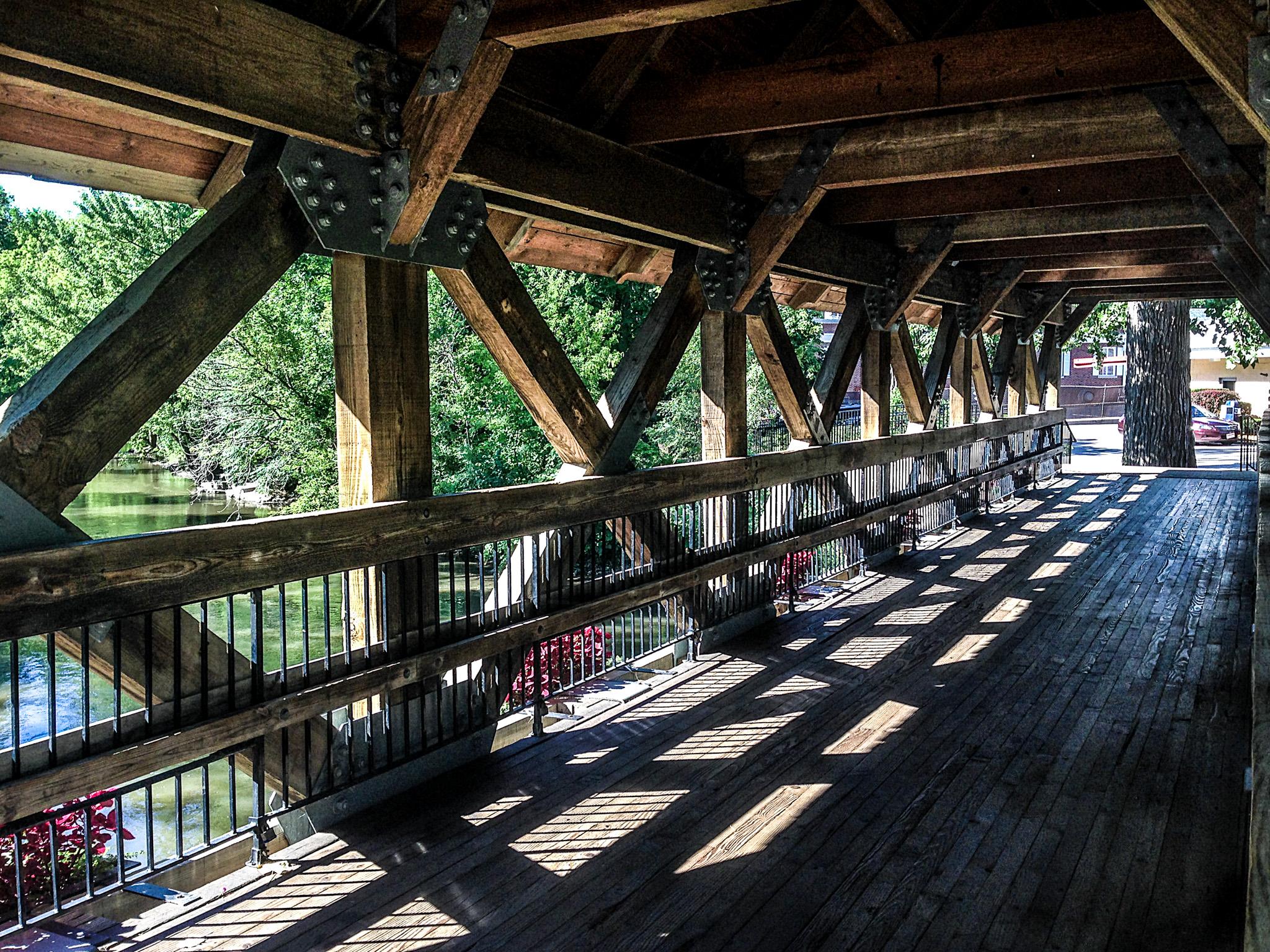 One o three covered bridges along the RiverWalk
