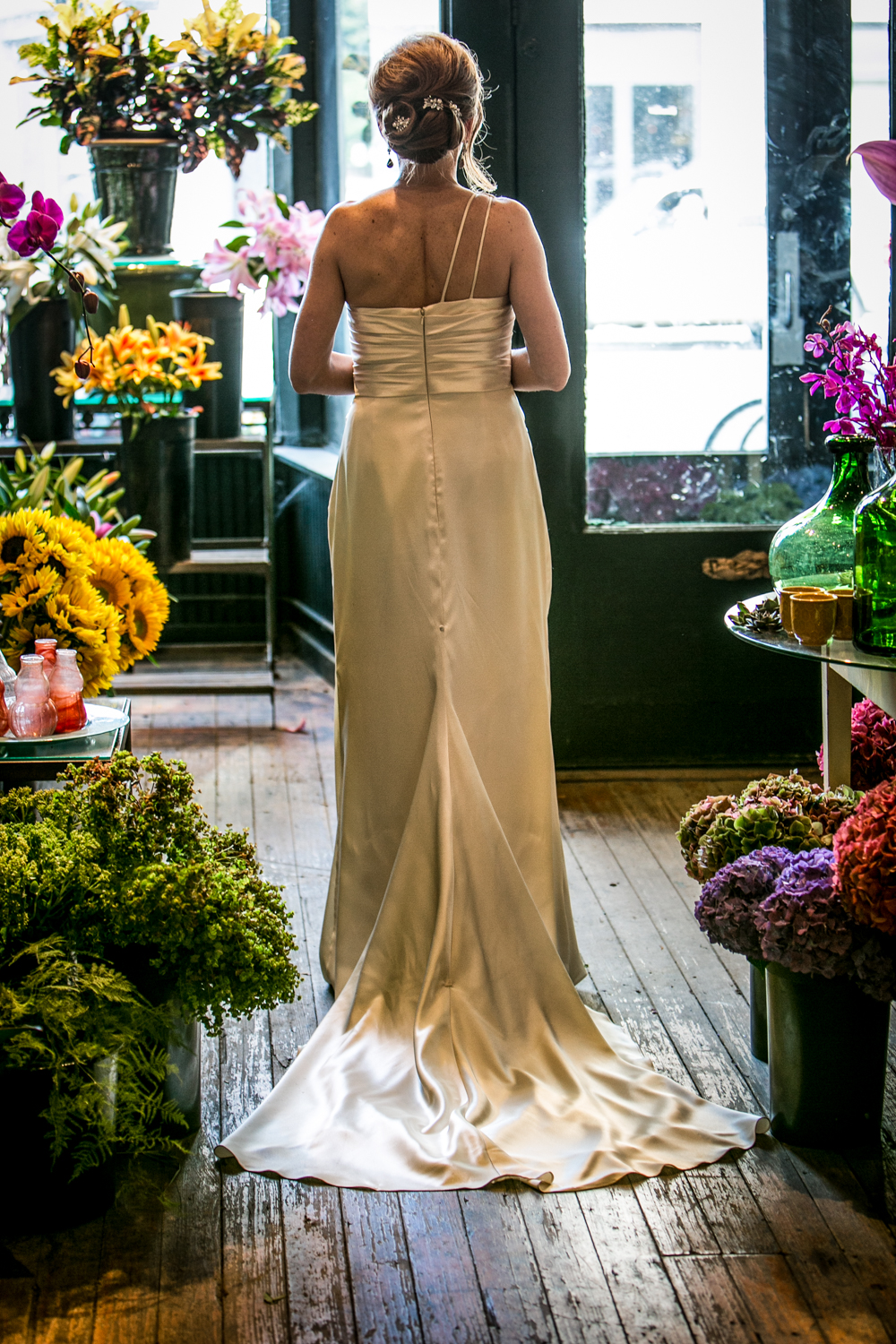 I always try to capture the bride walking away...the way a gown falls on a bride is beautiful and elegant.