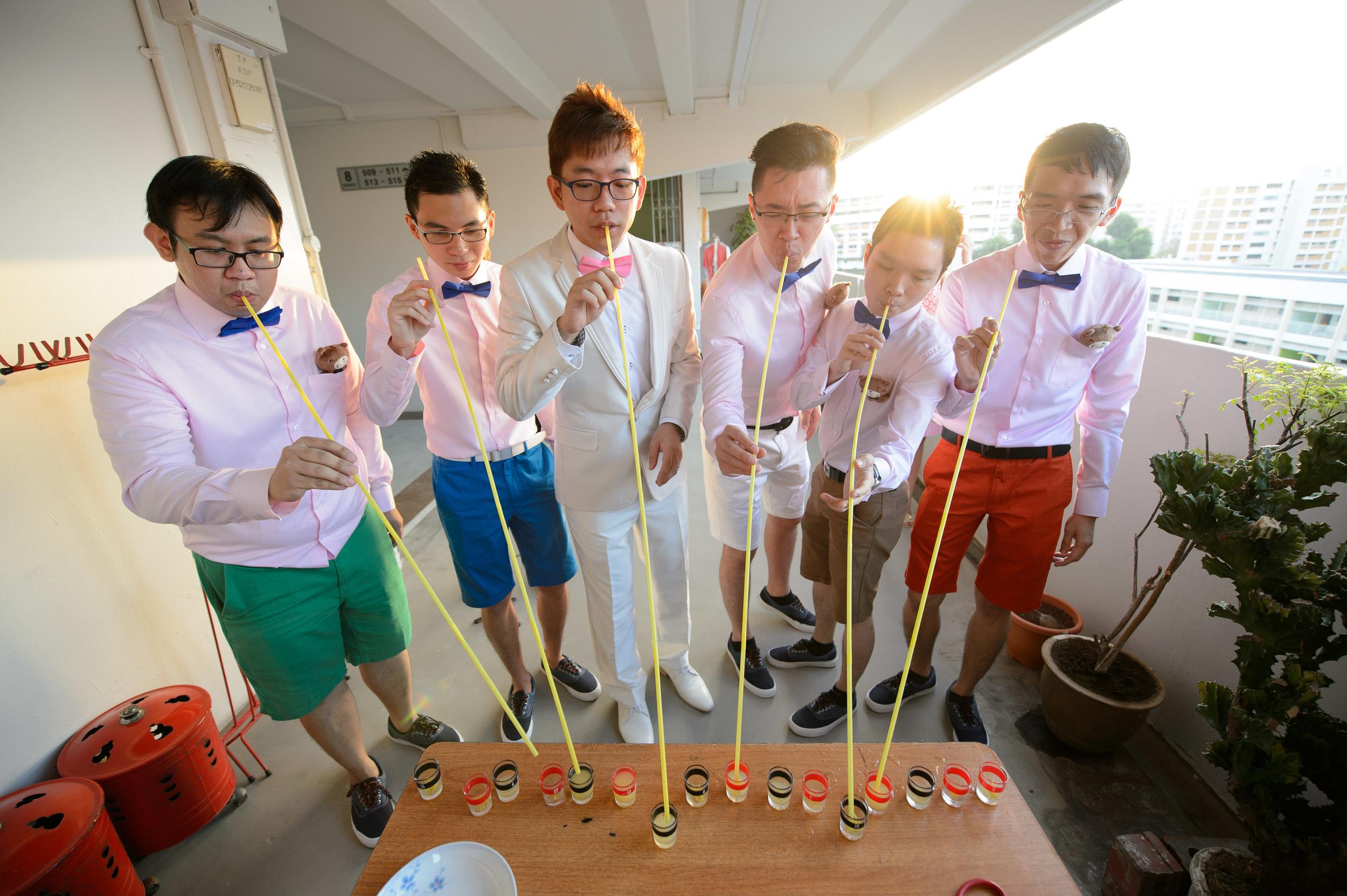 gate crash Singapore wedding Groom Bokelicious Photography
