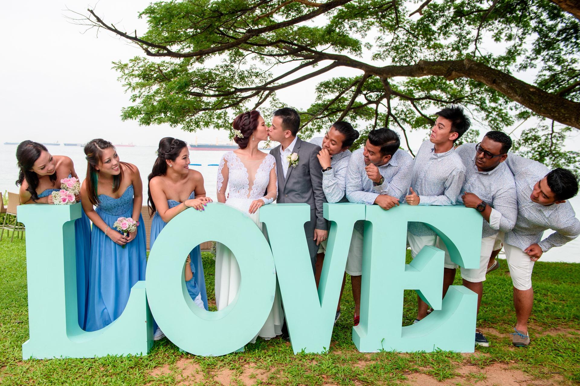 Big LOVE wedding photo Singapore