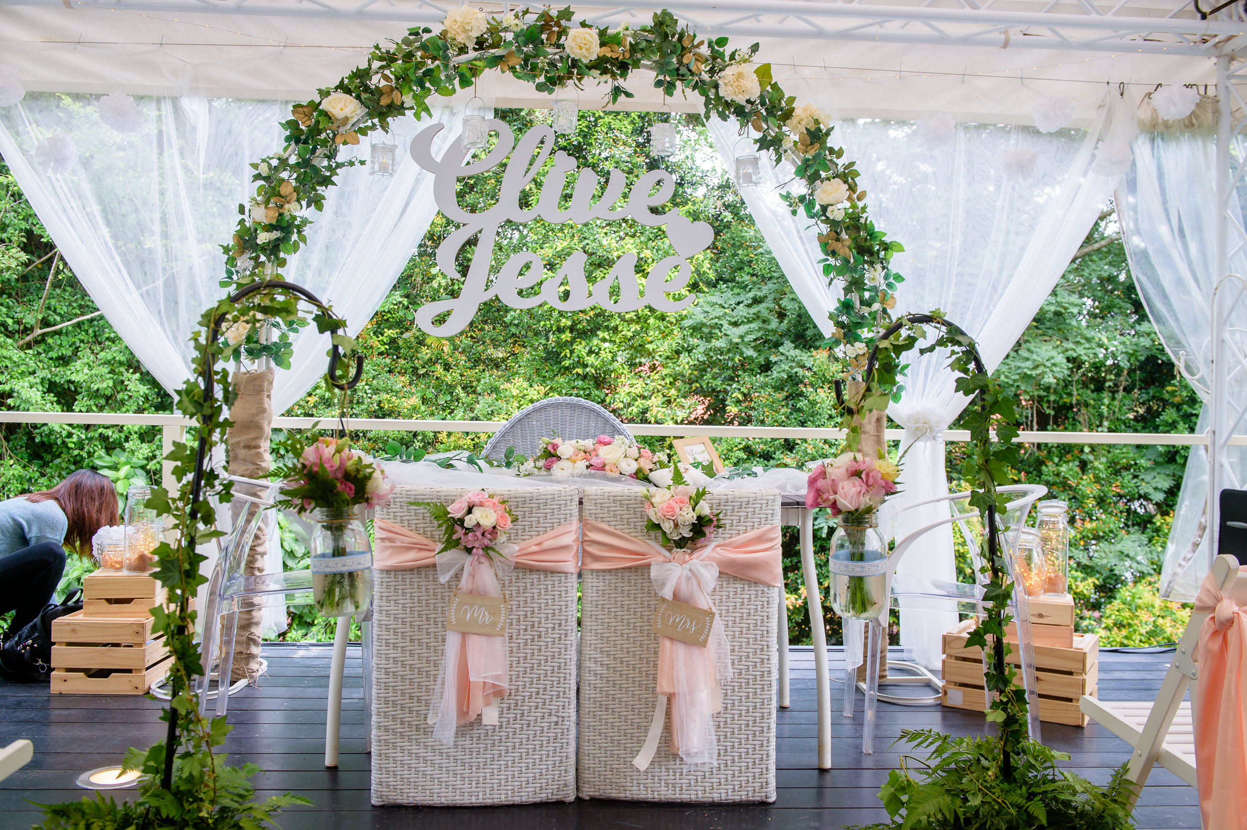 ROM wedding table setup
