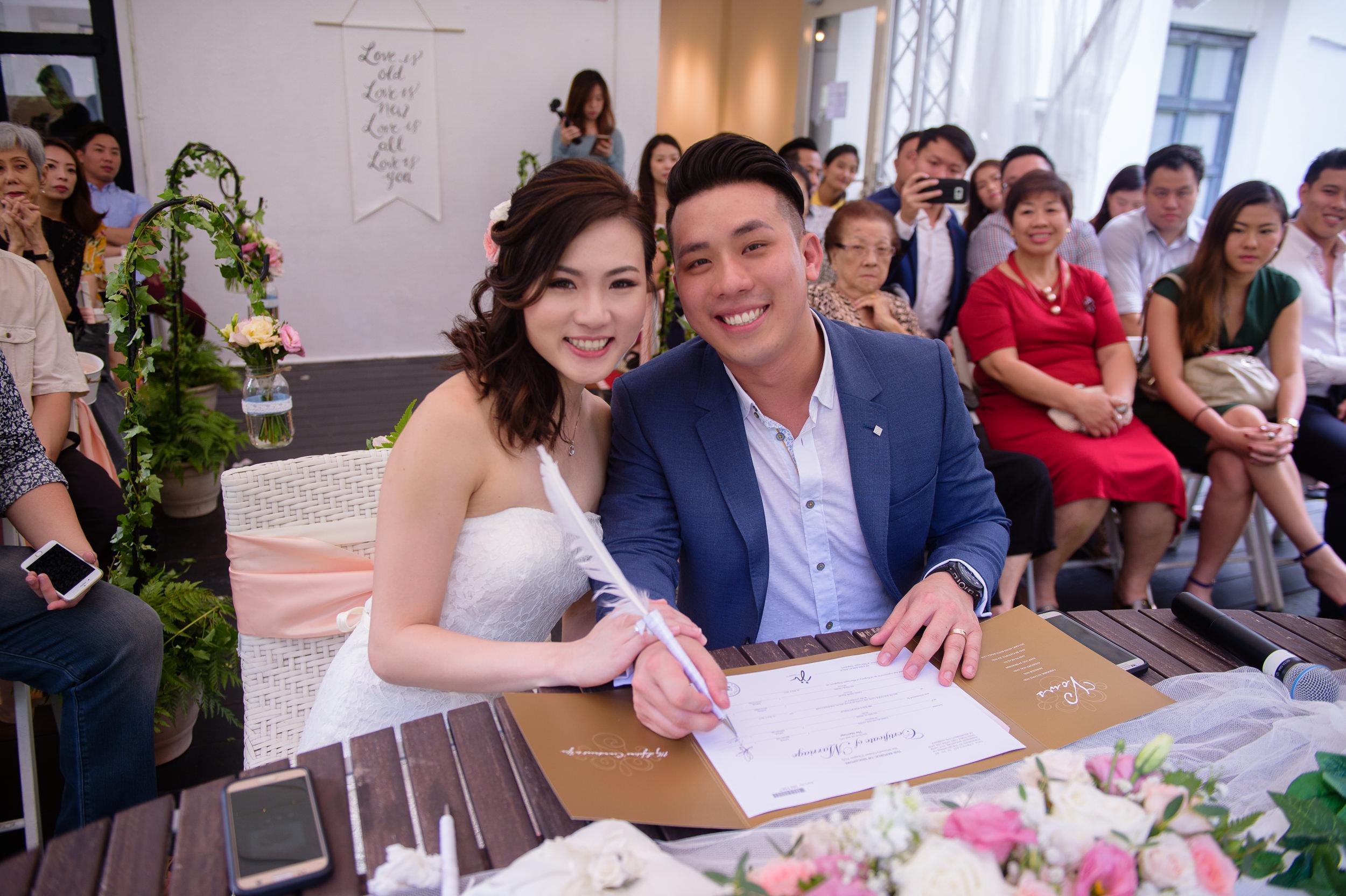 ROM wedding signing