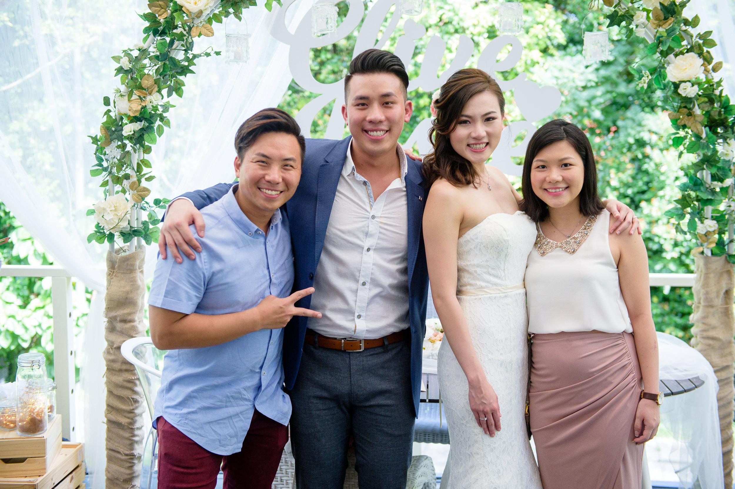 ROM wedding group photo