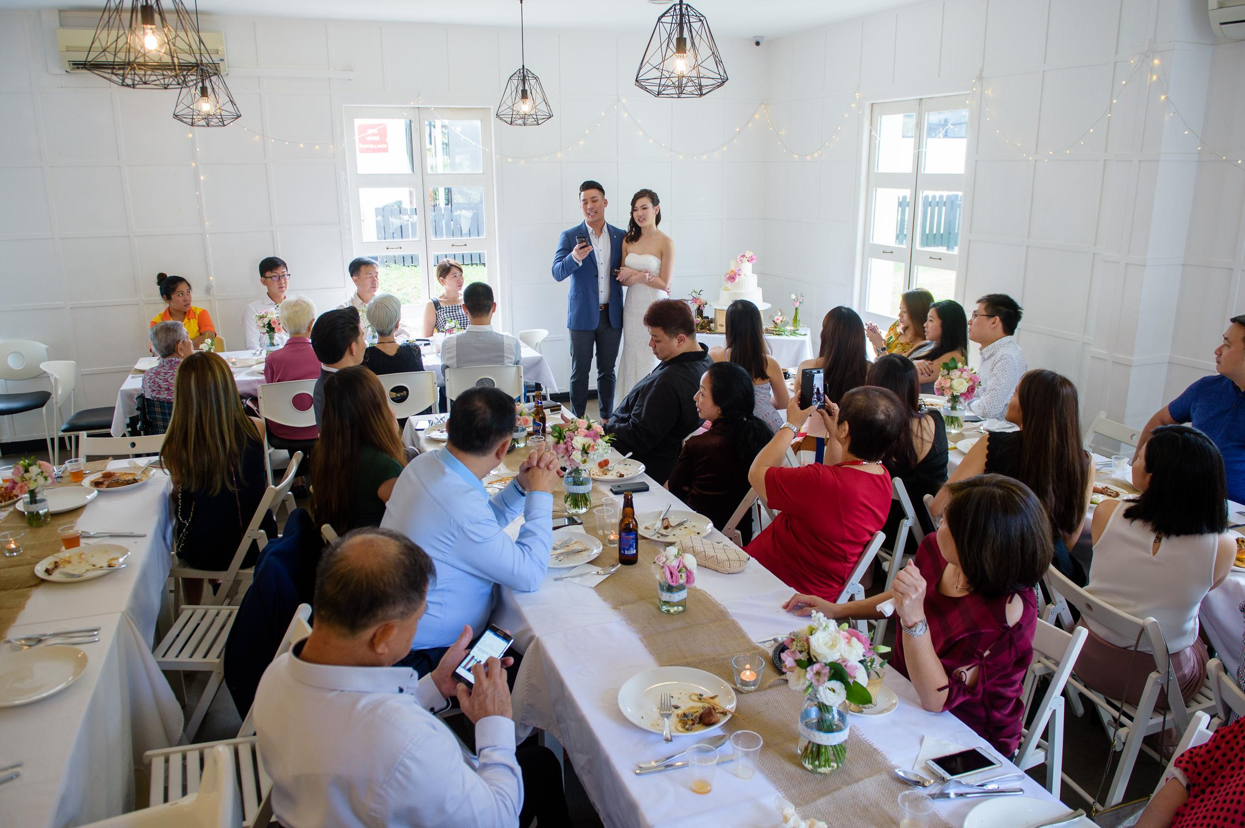 ROM wedding couple speech