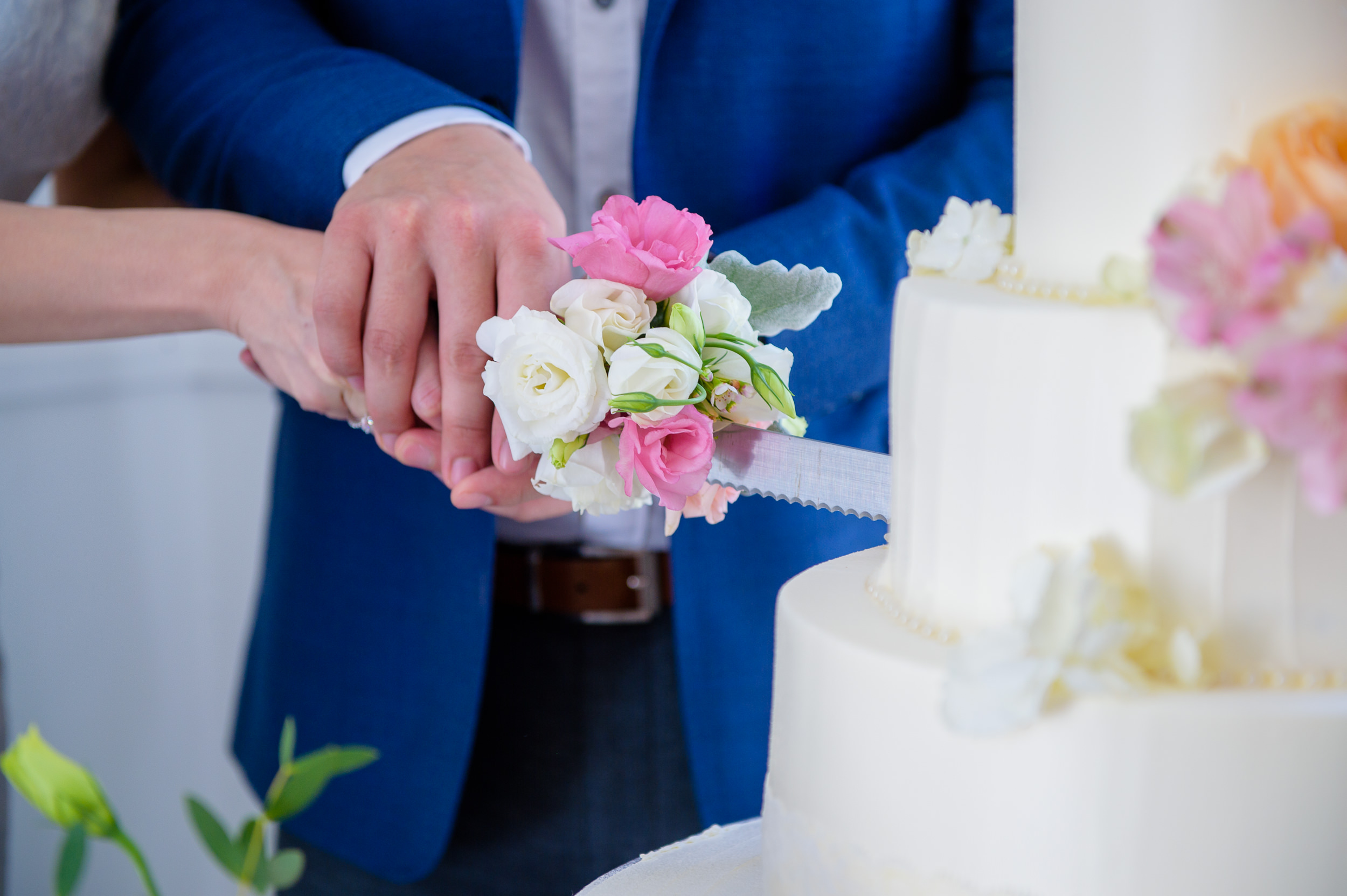 ROM wedding cake cutting