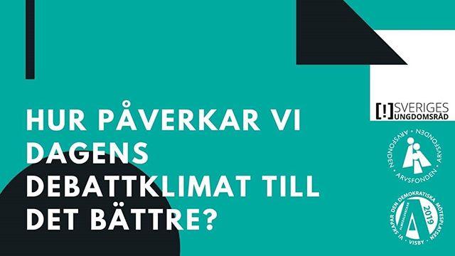 Den 1/7 arrangerar Sveriges ungdomsråd ett frukost-seminarium under Almedalsveckan.  I seminariumet kommer deltagste ur vårt treåriga projekt Debattspelen att disskutera varför det är viktigt att inkludera unga i samhällsdebatten och hur vi påverkar debattklimatet till det bättre.  Klicka i att ni kommer i vårat event, länk i profilen [!]