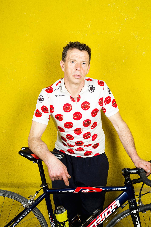 bike-Mechanic-yellow-Mario Schifano-dots-jersey.jpg