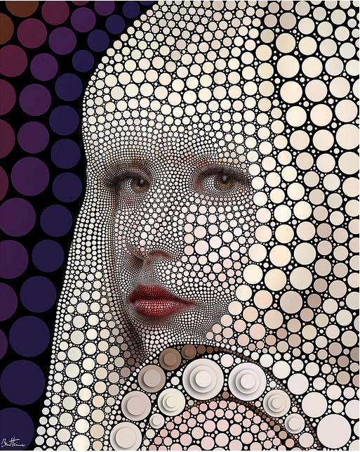 Lady Gaga  by Ben Heine