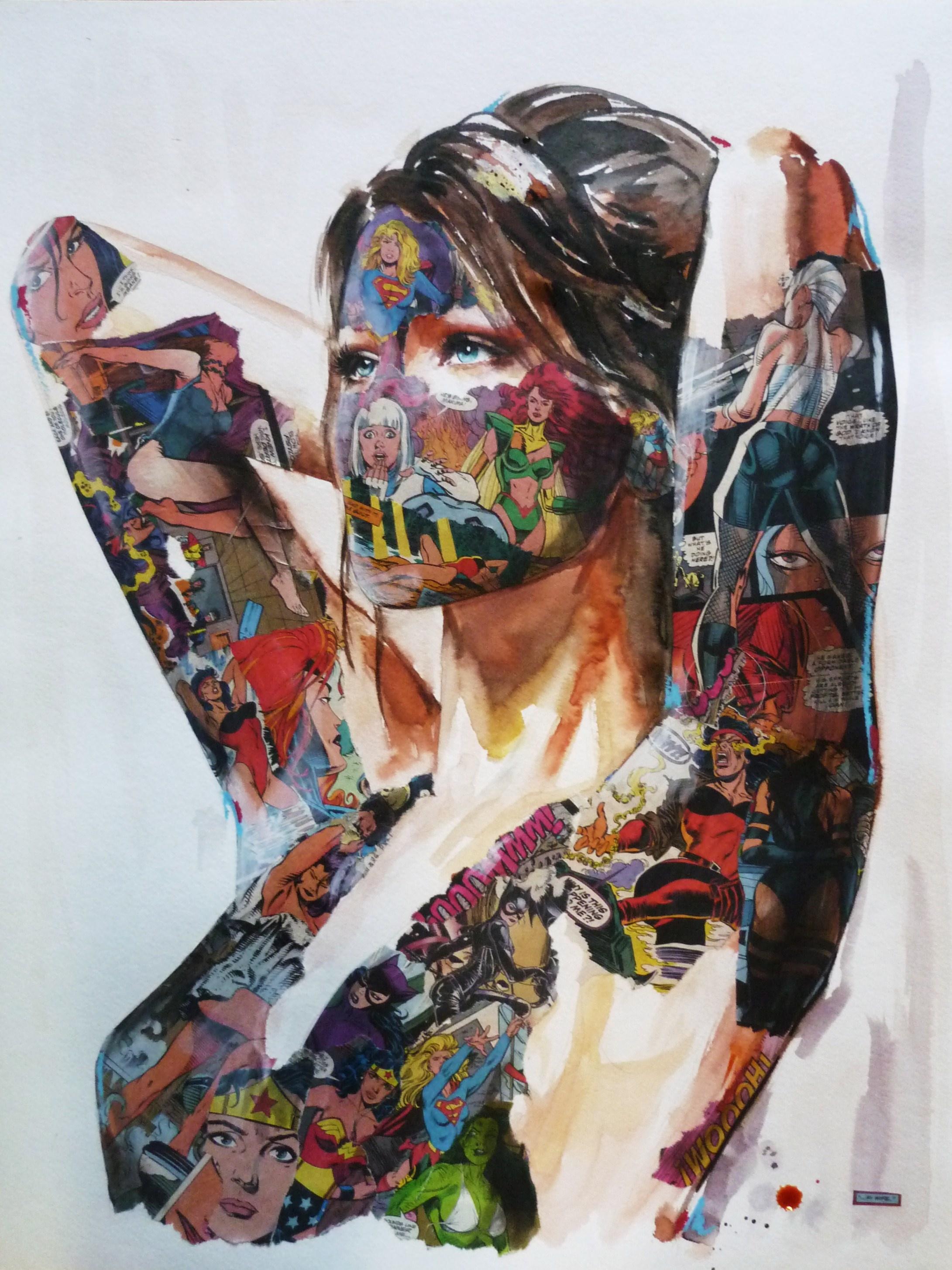 """""""La Cage et la femme aux 1001 visages"""", 18X24, 2013"""