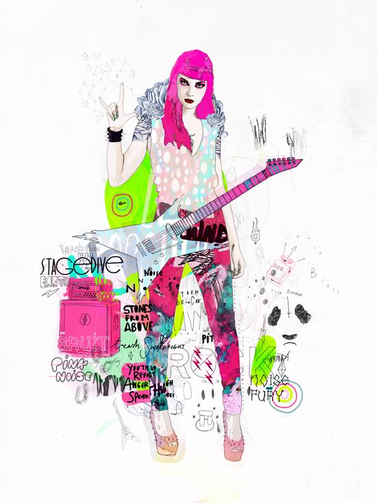 Pink metal noise