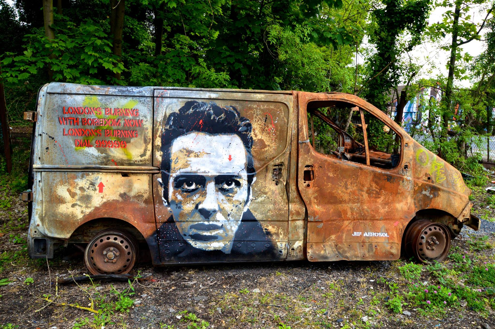 Joe Strummer, London's Burning! Intervention pour In Situ Festival, Fort d'Aubervilliers, 2014