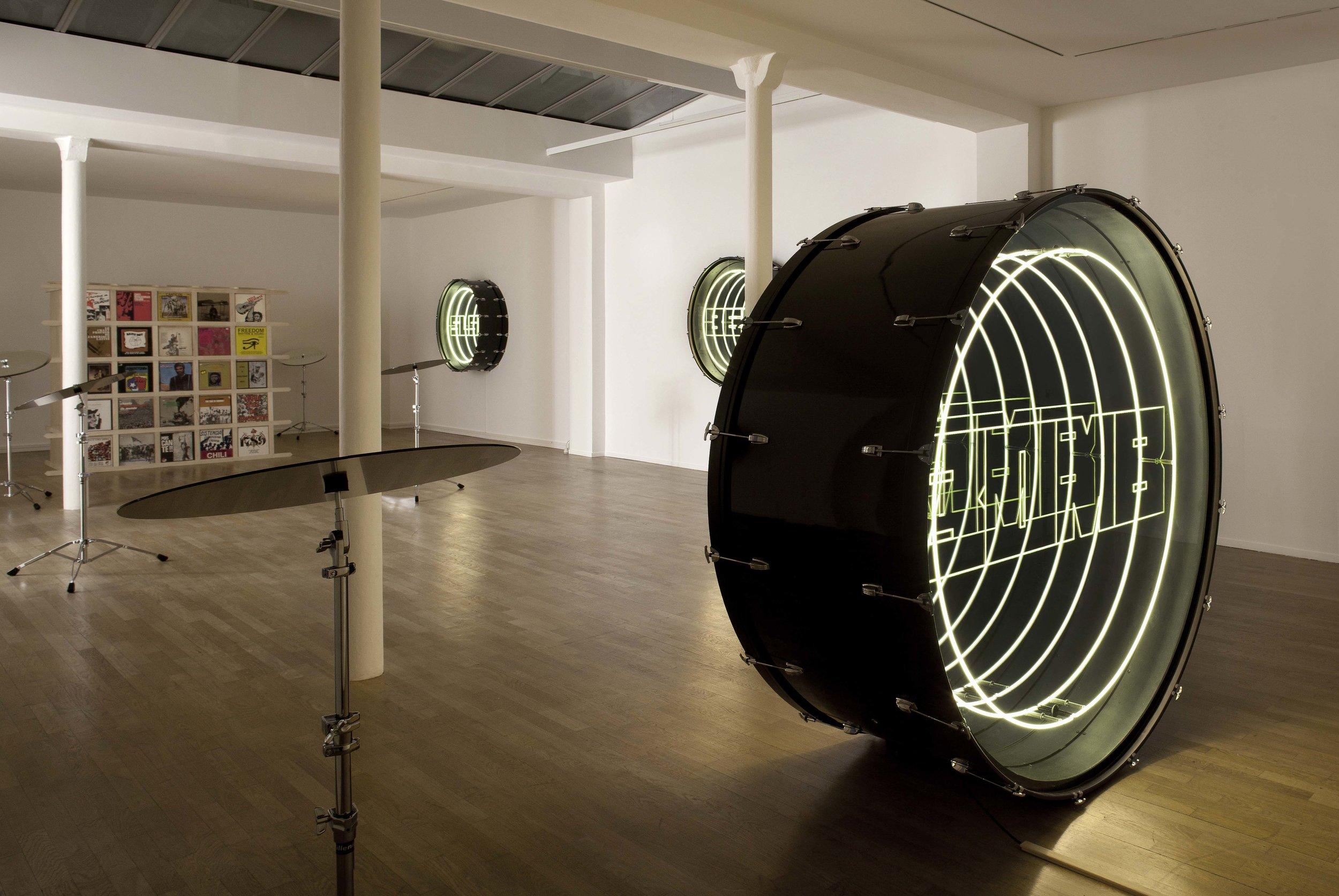 "Views of the exhibition of Ivan Navarro, ""Fanfare"", 2017 Photo: B.Huet-Tutti  Courtesy Galerie Daniel Templon, Paris and Bruxelles."