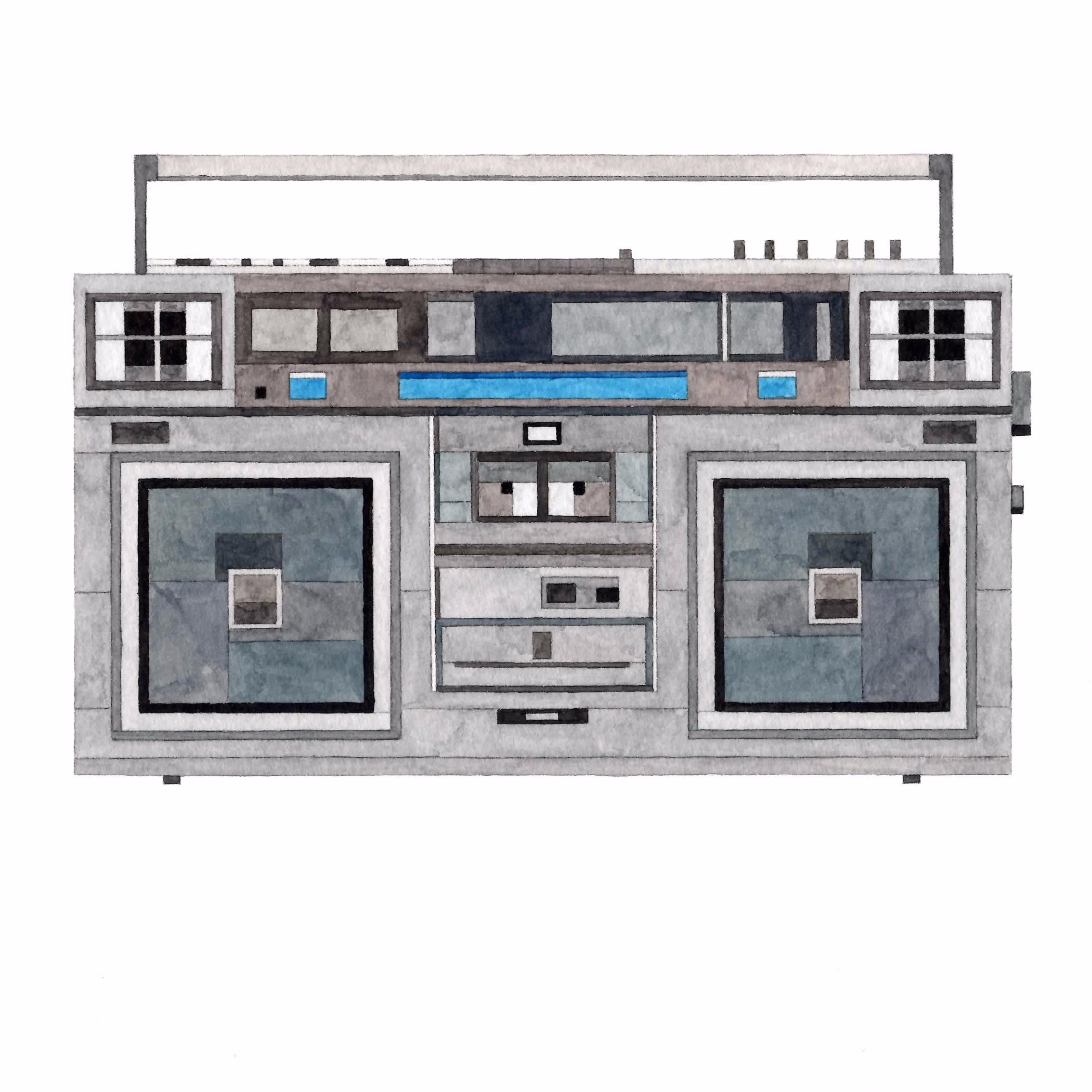 Adam Lister Boombox JVC RC-M70