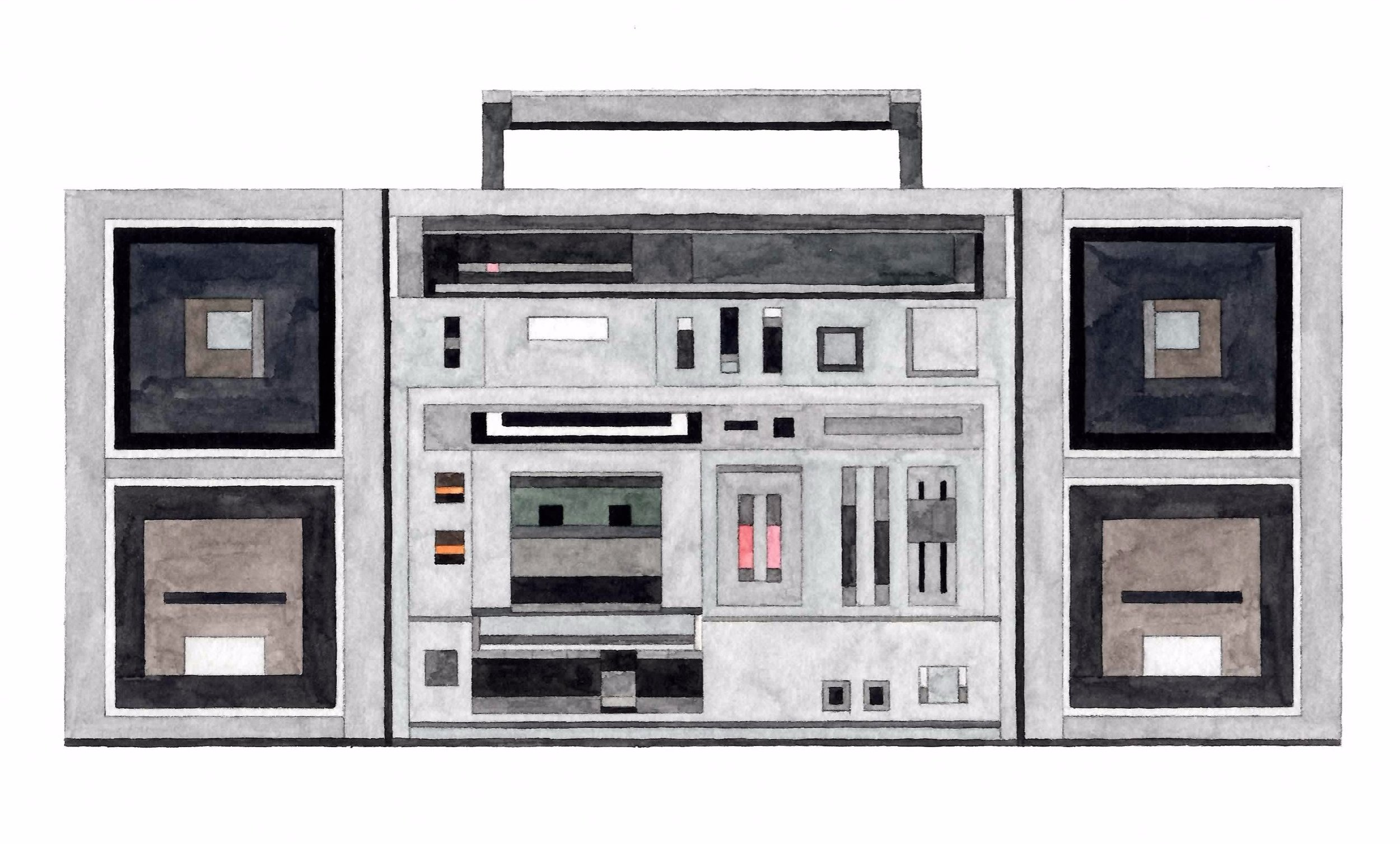 Adam Lister Boombox Toshiba RT-S953