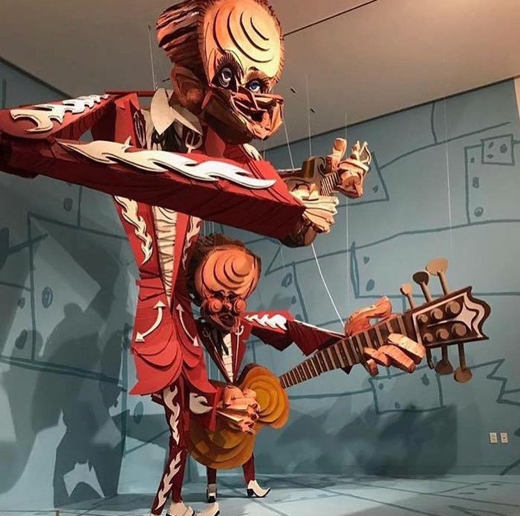 The Louvin Brothers, 2014  Cardboard, wood, acrylic, rope 168 × 192 × 192 in 426.7 × 487.7 × 487.7 cm
