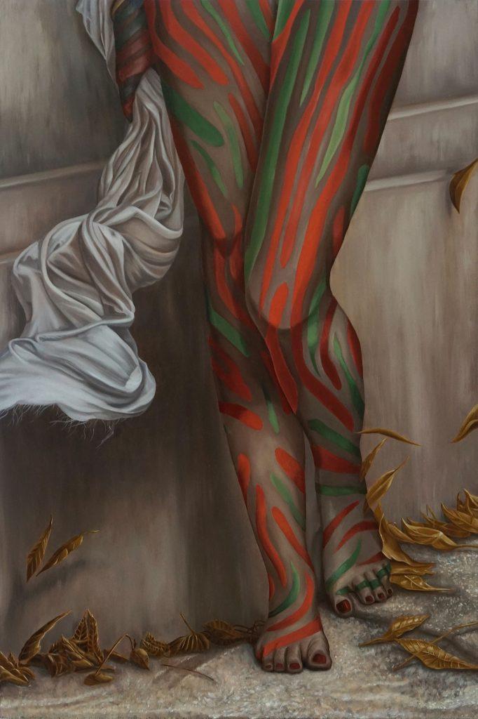 "Ken Flewellyn - ""Low End Theory"" (2017) Oil on wood panel - 16"" × 24"""