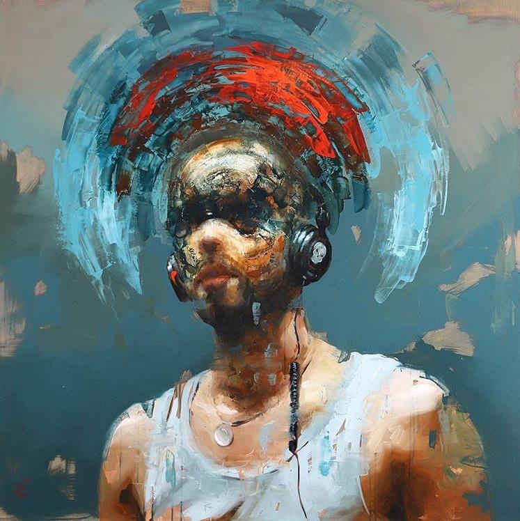 BONES IN MY EARS 120x120 cm - oil on canvas - SCOPE - New York