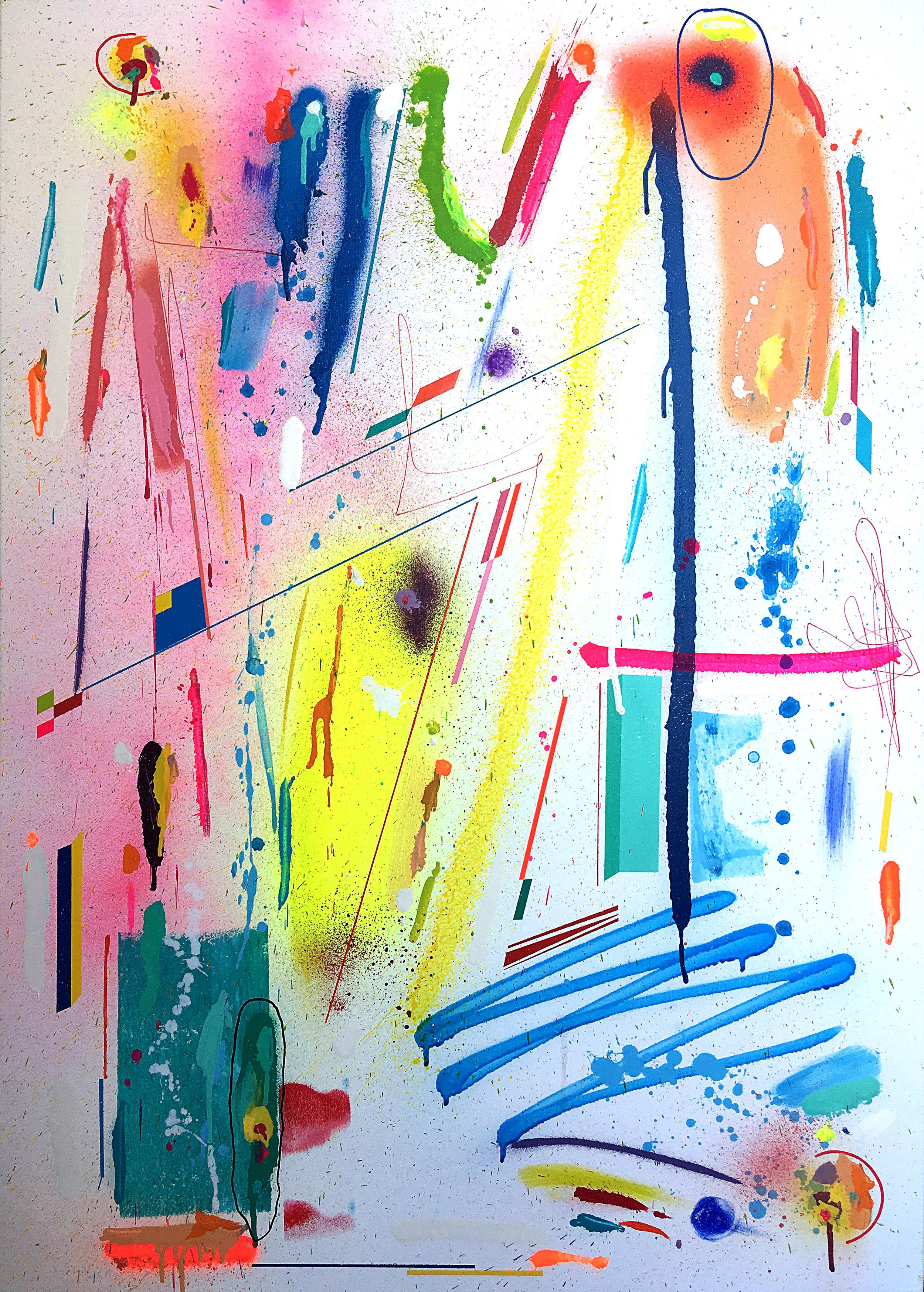 Electric Indigo , acrylic on canvas.