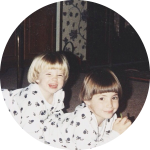 @jennykayc  It's a #tbt on @sar_fraz's birthday EVE! Oh how I've loved working the bowl cut and dog sweaters with you. I can tell you've enjoyed it too. #whymom #sisterlove #sweetspots