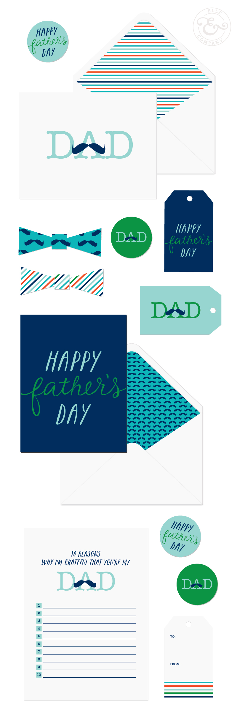 Elle & Company Fathers Day Printables