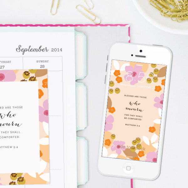 Weekly Truth backgrounds and scripture cards from Elle & Company