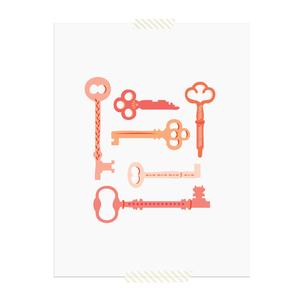 Pink Keys printable art print  |  Elle & Co.