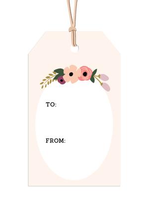 Printable gift tags  |  Elle & Co.