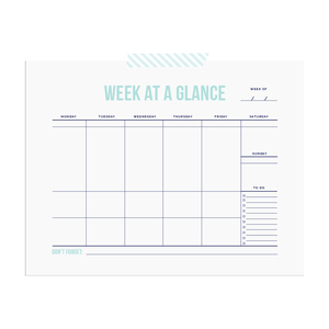 Printable week-at-a-glance chart  |  Elle & Co.