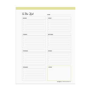 Printable weekly to-do list  |  Elle & Co.