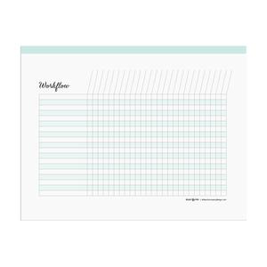 Printable workflow chart  |  Elle & Co.