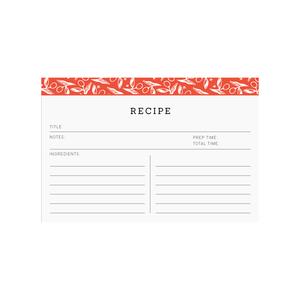 Printable recipe cards  |  Elle & Co.