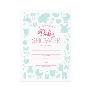 Printable baby shower invitations  |  Elle & Co.
