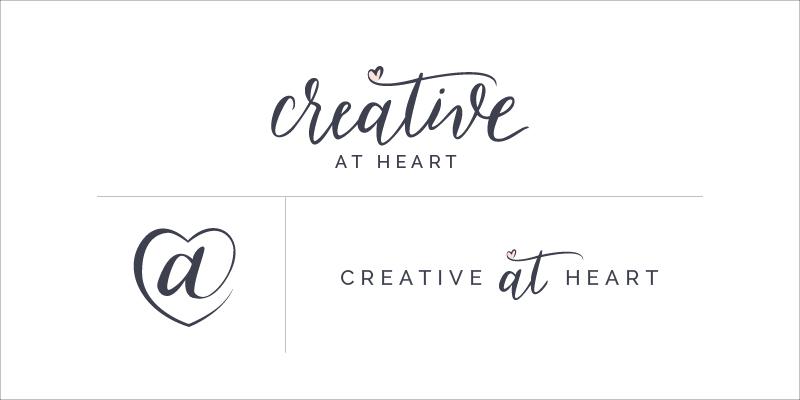 Creative At Heart logos // Elle & Company