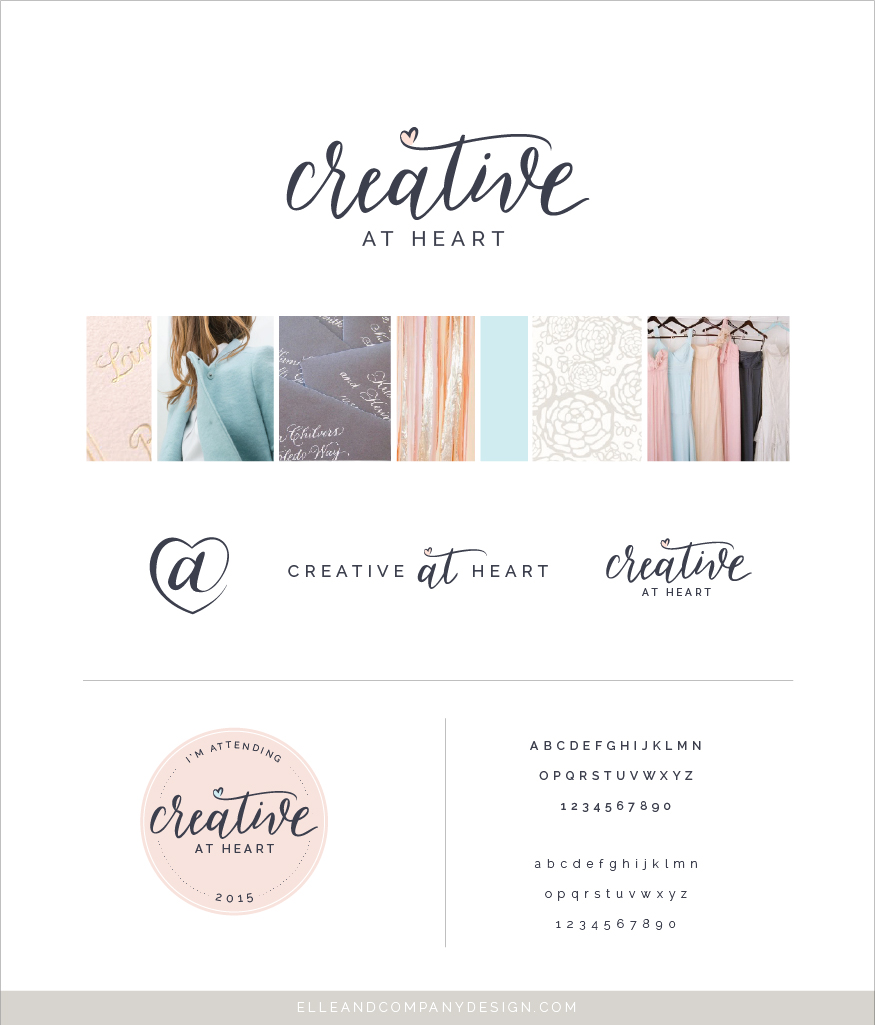 Creative At Heart brand and website design // Elle & Company