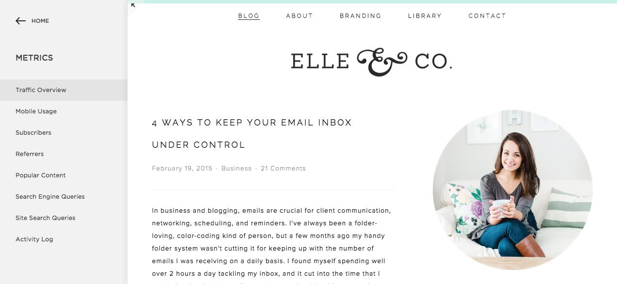 A Look Inside Squarespace Metrics | Elle & Company