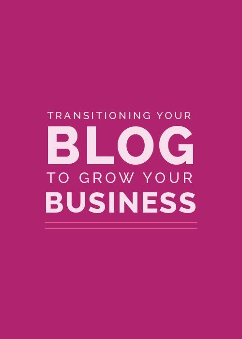 Transitioning Your Blog to Grow Your Business | Elle & Company