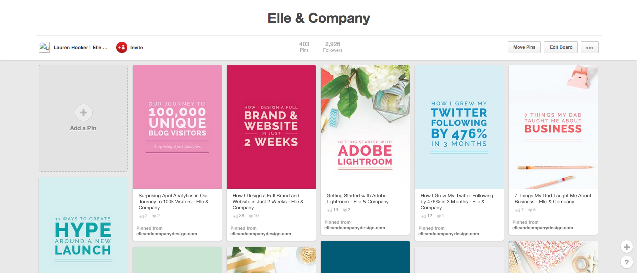 How to Brand Your Pinterest Boards | Elle & Company