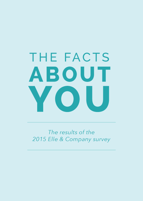 The Facts About You: The Results of the 2015 Elle & Company Survey | Elle & Company