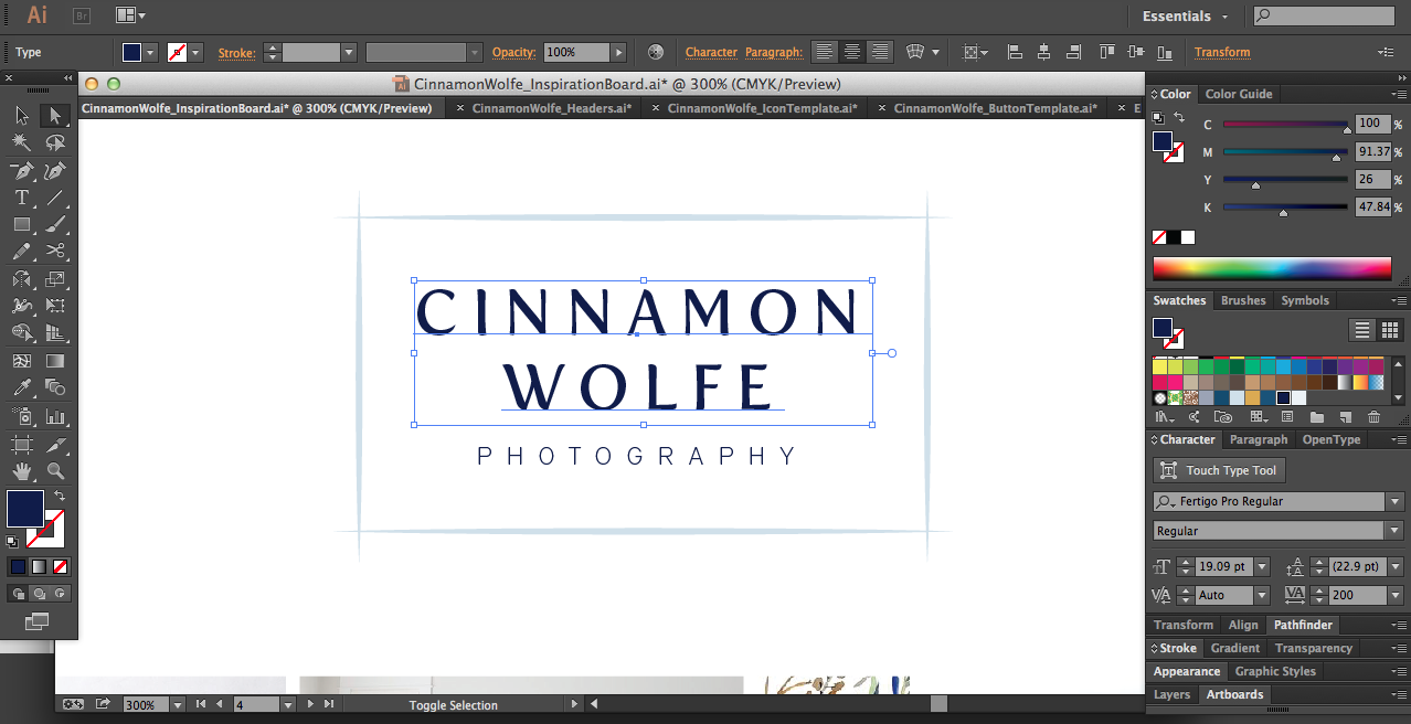 My Process for Creating Custom Client Logos | Elle & Company
