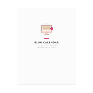 This blog calendar workbook in the Elle & Company Library includes sections for brainstorming content, scheduling posts, and keeping up with blog to-do's.  See more details >>