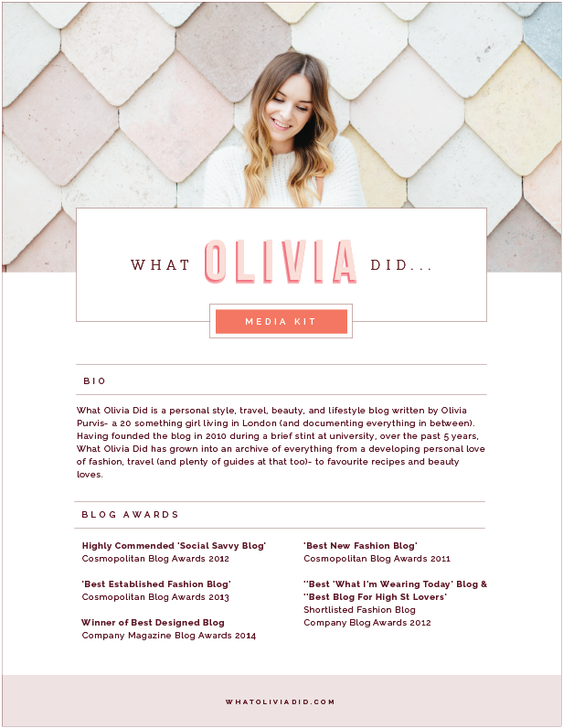 Brand Website Design For What Olivia Did
